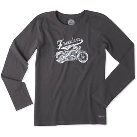 Life is Good Womens Crusher L/S Tee, Freedom Machine