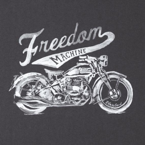 Womens Crusher L/S Tee, Freedom Machine Motocycle