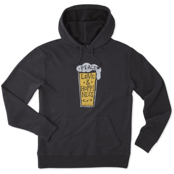 Men's Go To Hoodie Peace, Love & Hoppiness Beer