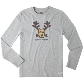 Life is Good Men's Crusher L/S Tee, Plaid to the Bone