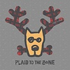 Men's Crusher L/S Tee Plaid to the Bone Dog