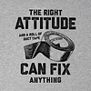 Men's Smooth Tee, RIght Attitude & Duct Tape