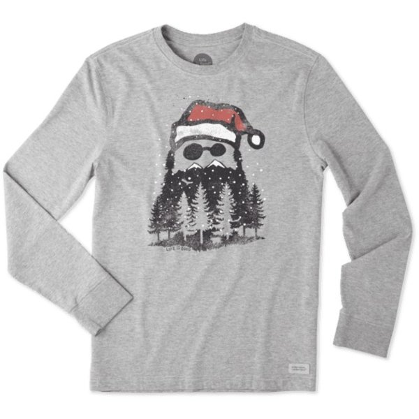 Life is Good Men's Crusher L/S Tee Holiday Beard