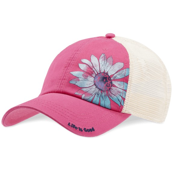 Soft Mesh Back Chill Cap, Daisy, Pop Pink