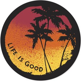 Life is Good LIG Sticker Sunset Palms