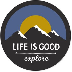 Life is Good LIG Sticker Explore Mountains