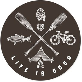 Life is Good LIG Sticker Outdoor Adventure