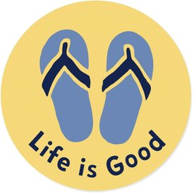 Life is Good LIG Sticker Flip Flops