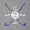 Men's Smooth Tee, Daily Dose of Iron Golf