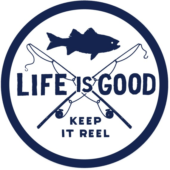 Life is Good LIG Sticker Keep it Reel