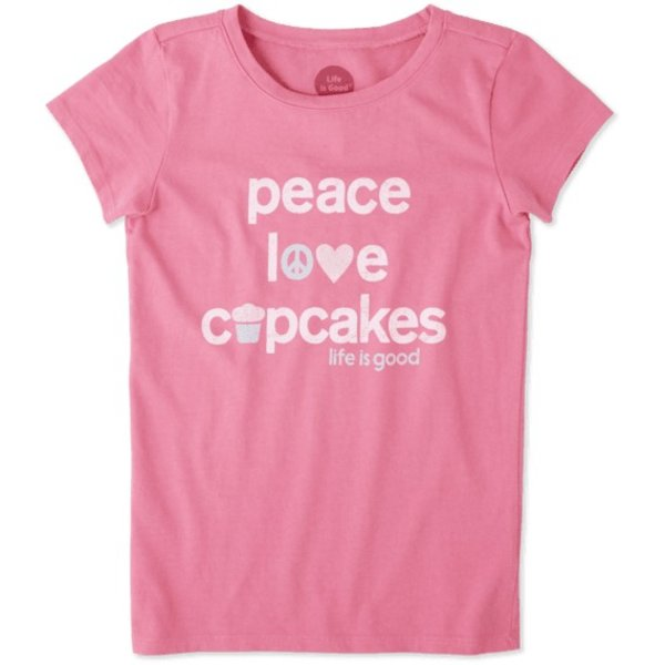 Life is Good Girls Crusher Tee Cupcake