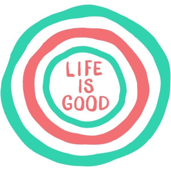 Life is Good Die Cut Sticker, Life is Good