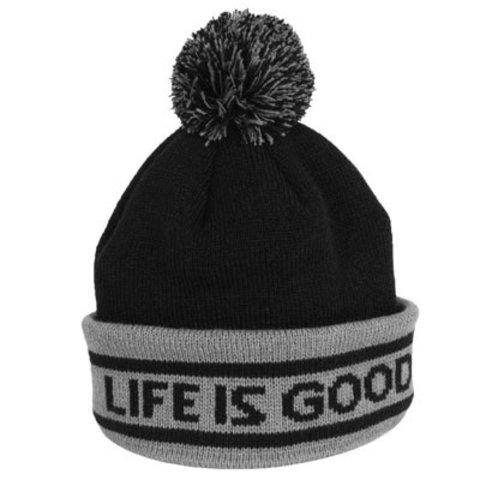 Men's Toque, Life is Good, Night Black