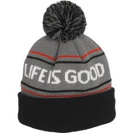Life is Good Men's Toque, Life is Good, Slate Grey