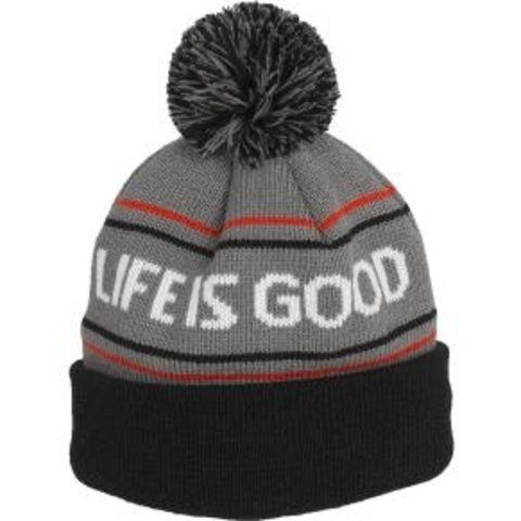 Men's Toque, Life is Good, Slate Grey