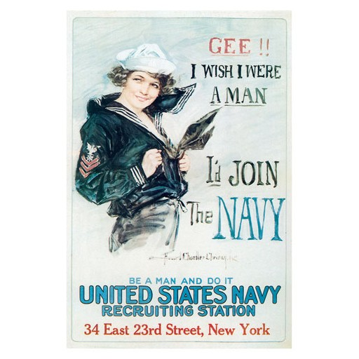 Poster - Be A Man And Do It - 1918 - Giclee Print on Photo Paper
