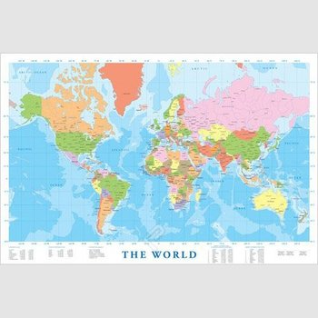Poster - Modern Map of the World