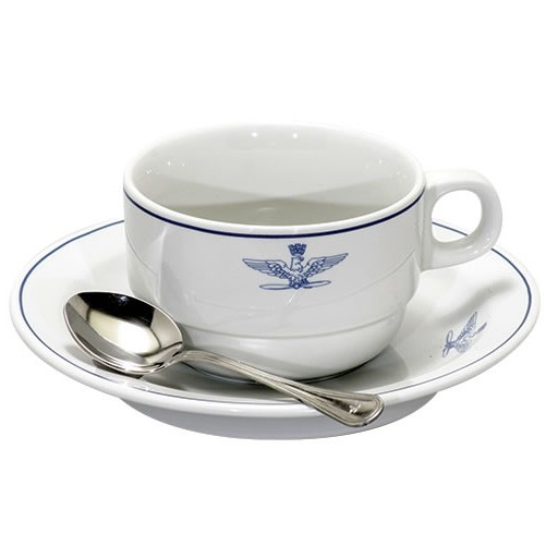 GENUINE SURPLUS Cup & Saucer, Americano, Italian Airforce, Issue, 1950's ERA