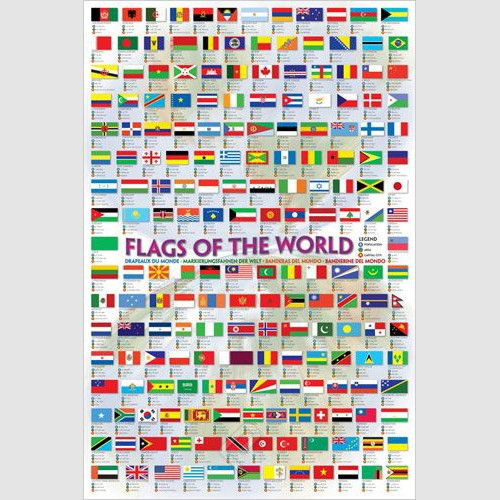 Poster - Flags of the World 2008