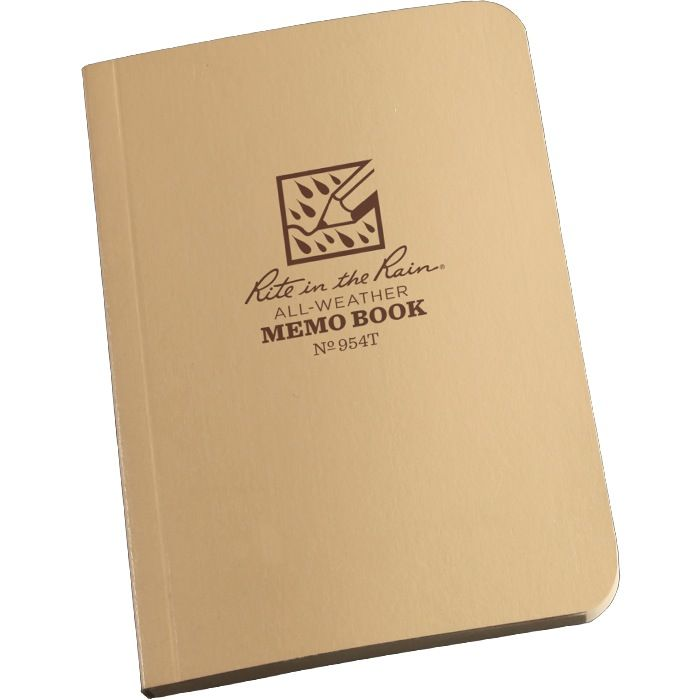 RITE IN THE RAIN Note Book - All Weather - 3.5''x5'' - Tan