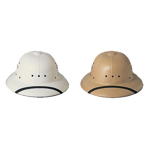 US Type Pith Helmet, Plastic, White