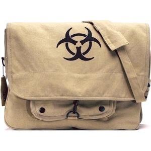 ROTHCO Rothco, Vintage Canvas Paratrooper Bag, Bio-Hazard