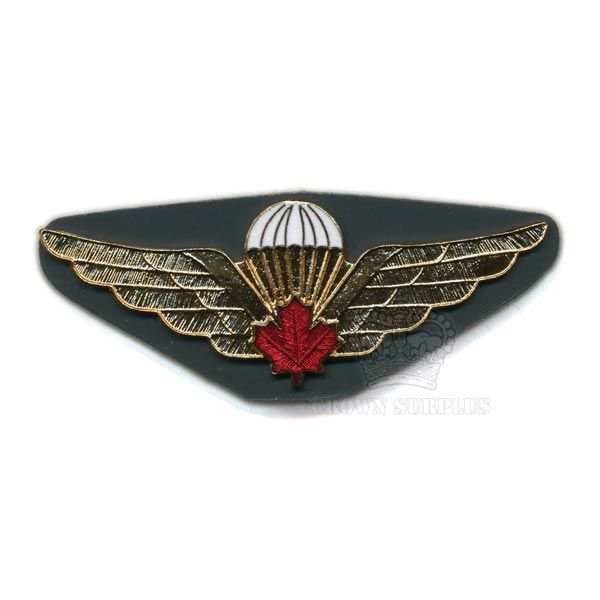 Badge - Wing - Airborne - Maple Leaf - CDN - Red Metal