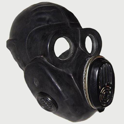 GENUINE SURPLUS Gas Mask, PBF, Military, era,1984/85, Russian