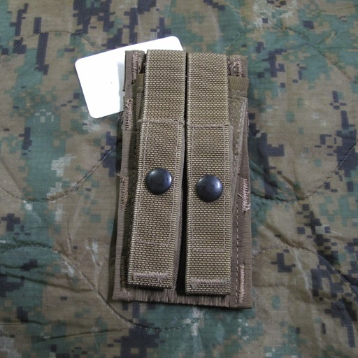 GENUINE SURPLUS Genuine US Issue, 9MM, Double Magazine, Pouch, Coyote