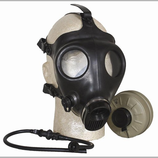 GENUINE SURPLUS Israeli Civilian Gas Mask, Complete Kit