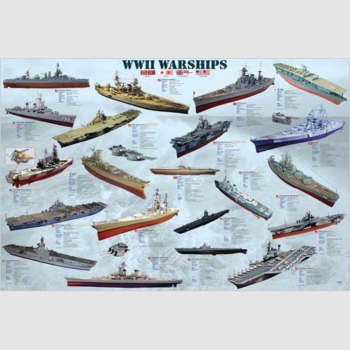 Poster - World War II Warships