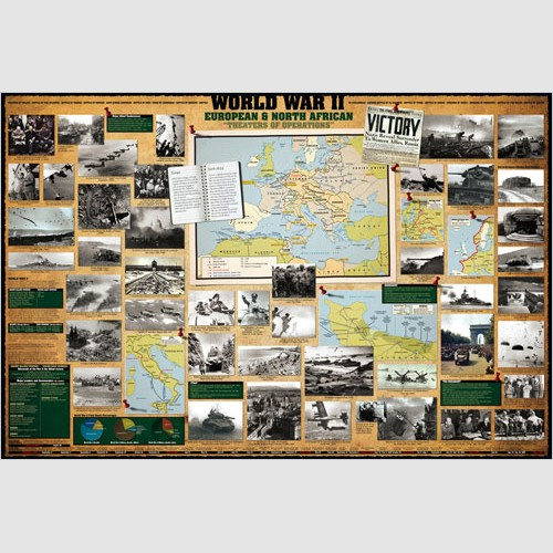 Poster - World War II European & North African Theatres