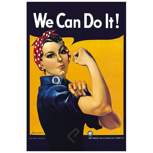 Poster - Rosie the Riveter: We Can Do It!