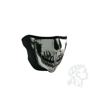 ZAN ZAN Headgear, Neoprene Half Mask, White Skull