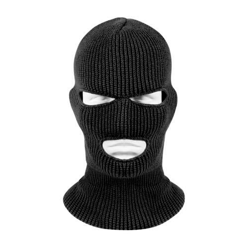ROTHCO Face Mask - 3-Hole Balaclava - 100% Acrylic - Black