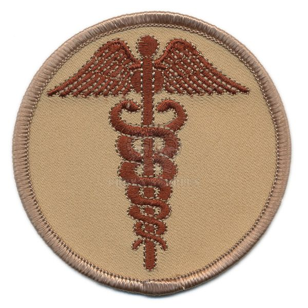 Patch, Rod of Asclepius, [Medical Staff] Subdued Arid