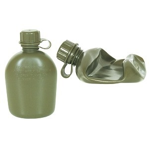 GENUINE SURPLUS Canteen, Us Issue, Collapsible, 1 QT, Olive Drab