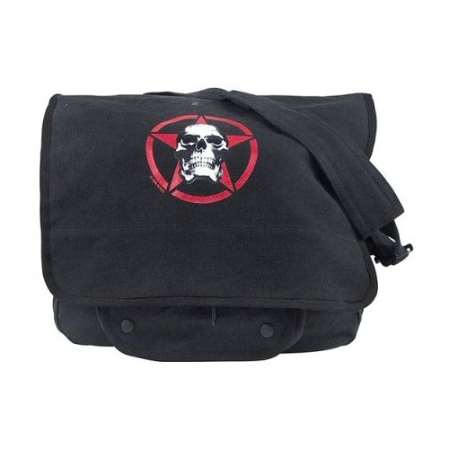 ROTHCO Rothco, Vintage Red Skull Paratrooper Shoulder Bag