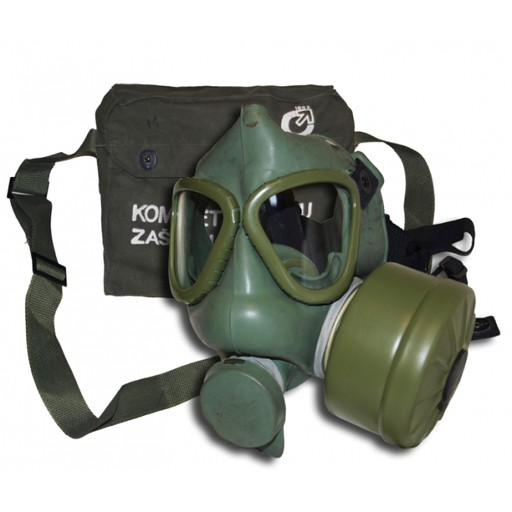 GENUINE SURPLUS Gas Mask -Yugoslavian - Genuine Issue - Complete w/ Bag & Accessories
