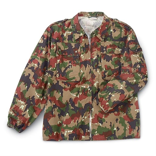 GENUINE SURPLUS Jacket - Alpenflage - 3-Piece - Swiss Army Issue -