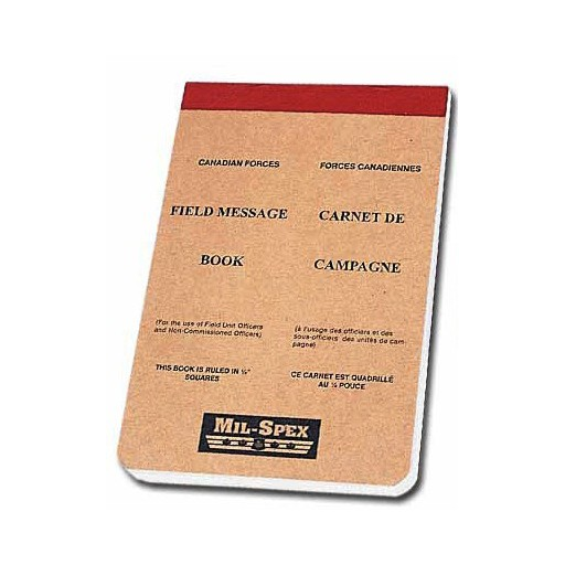 Note Pad - Field Message Book - CDN. Type