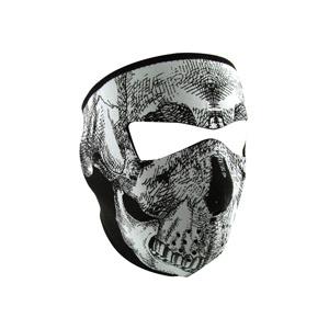 ZAN ZAN Headgear, Neoprene Full Mask, Glow in the Dark White Skull