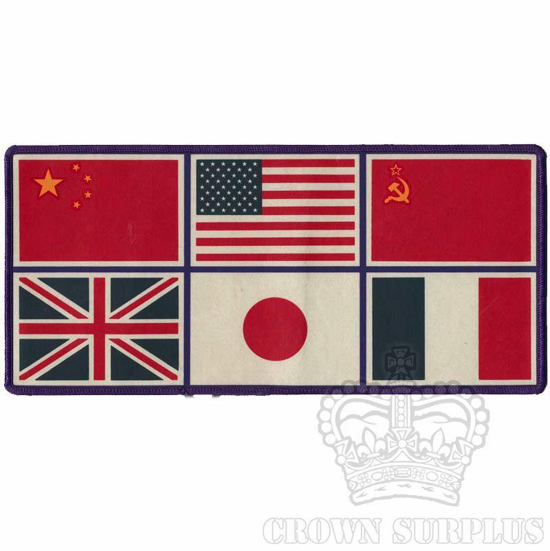 GENUINE SURPLUS Patch - Trans-Antarctica Multinational Flags