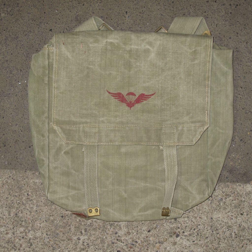 Bag, Shoulder, Haversack, 37-Pattern Type, Custom Print, Canadian Airborne Wings