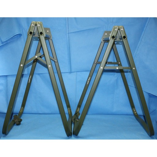 "GENUINE SURPLUS Stretcher Stand, Support, Litter, Folding, Lightweight 32.5"" Height, 1 Pair"