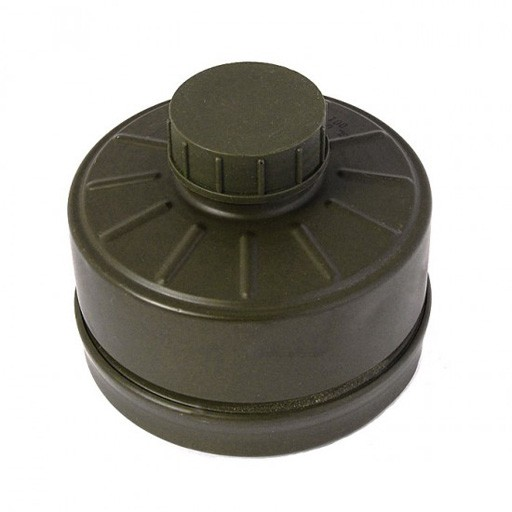 GENUINE SURPLUS German Gas Mask Filter, NATO 40mm Threads, 1991 Production
