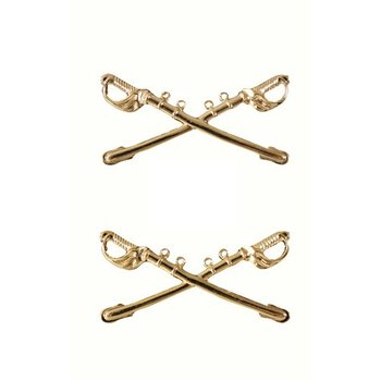 Pin - US - Insignia - Cavalry Swords - Gold
