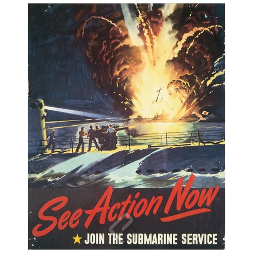 Poster - See Action Now - 1944 - Giclee Print on Photo Paper
