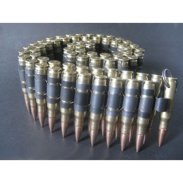 .308 Dummy Belt, Brass Case and Copper Bullet, Black Links