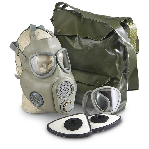 GENUINE SURPLUS Gas Mask - M-10M - Czech Genuine Issue - Complete w/ Bag & Accessories